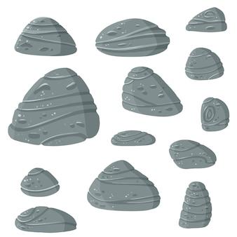 Conjunto de pedras para a arte do jogo