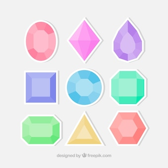 Conjunto de pedras preciosas adesivos