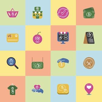 Conjunto de pequenas empresas