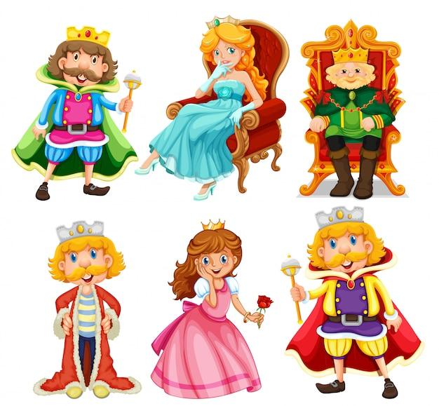Conjunto de personagem de desenho animado de fantasia