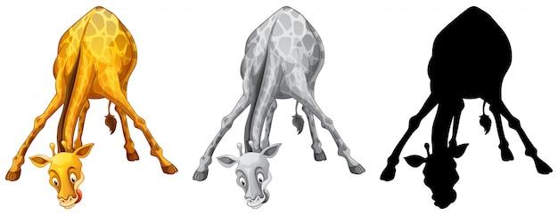 Conjunto de personagem de girafa