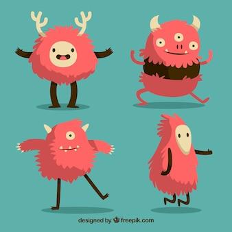 Conjunto de personagem divertido dos monstros
