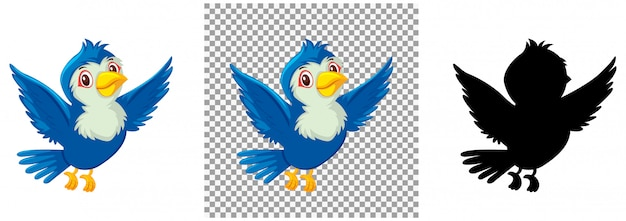Conjunto de personagem pássaro
