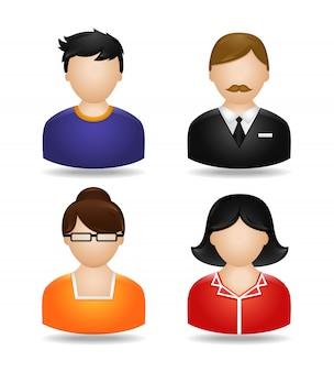 Conjunto de personagens de avatar