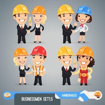 Conjunto de personagens de desenhos animados de empresários