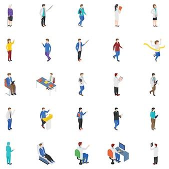 Conjunto de personagens de pessoas profissionais
