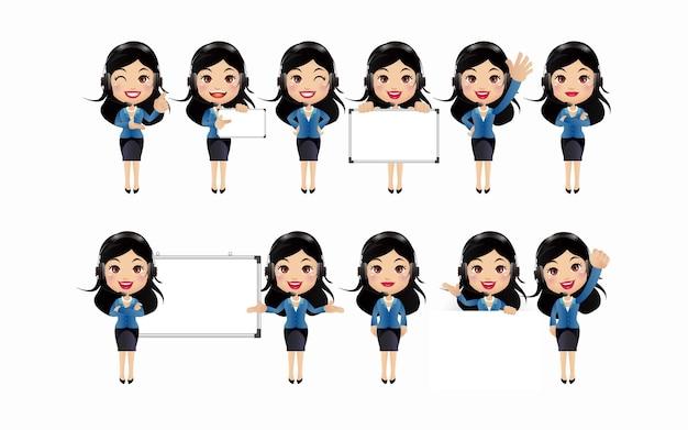 Conjunto de personagens femininas.