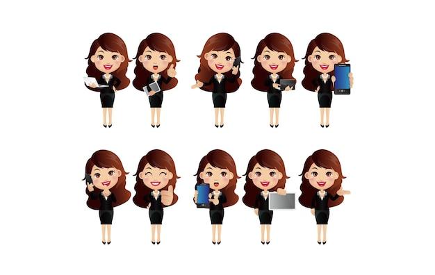 Conjunto de personagens femininas