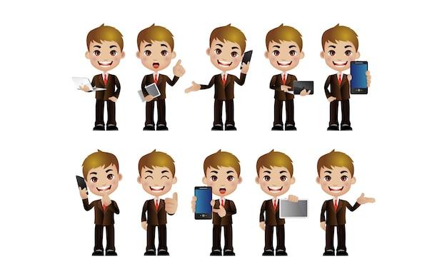 Conjunto de personagens masculinos