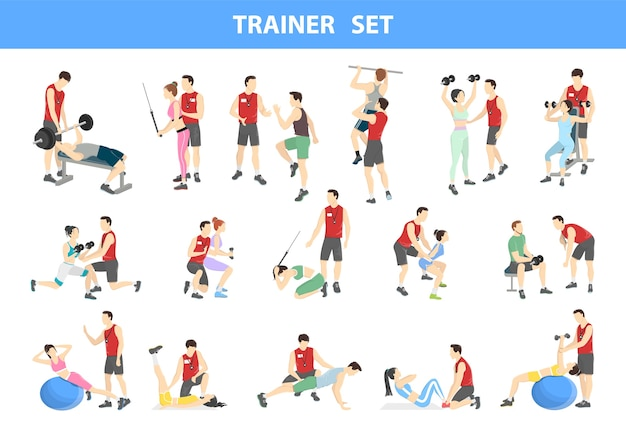 Conjunto de personal trainer