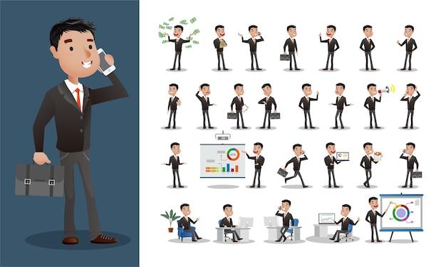 Conjunto de pessoa de negócios. trabalhadores de escritório