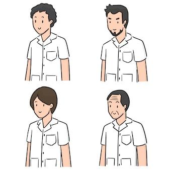Conjunto de pessoal médico