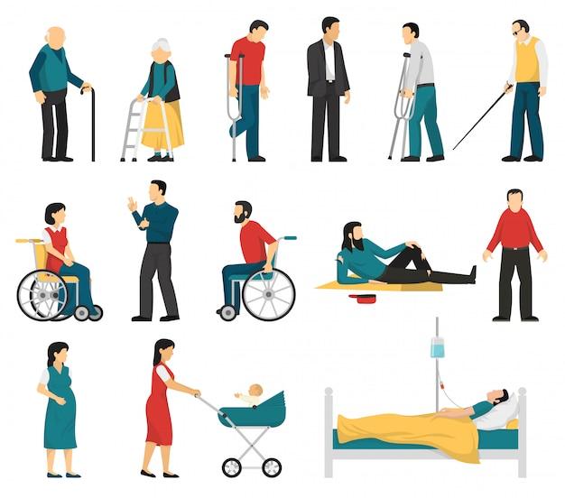 Conjunto de pessoas com deficiência
