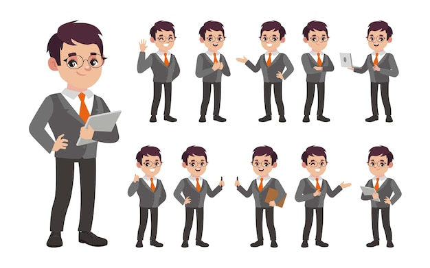 Conjunto de pessoas com diferentes poses