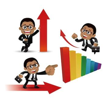 Conjunto de pessoas conjunto de finanças de empresário de negócios