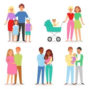 Conjunto de pessoas da família