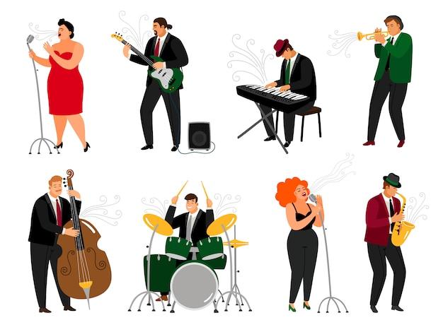 Conjunto de pessoas de jazz