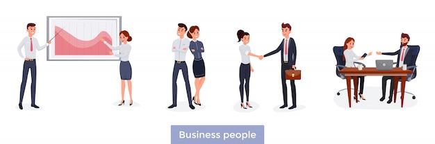 Conjunto de pessoas de negócios
