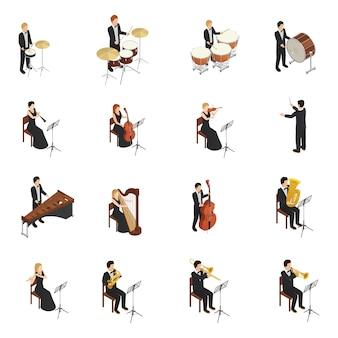 Conjunto de pessoas de orquestra
