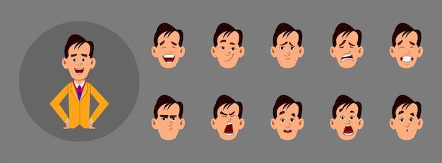 Conjunto de pessoas mostrando emoções