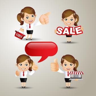 Conjunto de pessoas - negócios - venda