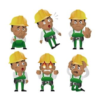 Conjunto de pessoas - profissão - trabalhador. construtor