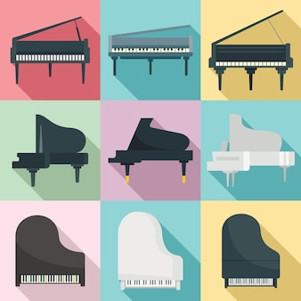 Conjunto de piano de cauda, estilo simples