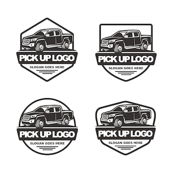 Conjunto de pick up modelo de logotipo de carro