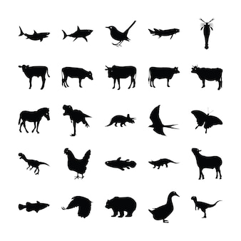 Conjunto de pictogramas de animais
