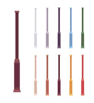 Conjunto de pilares de balaústre de coluna