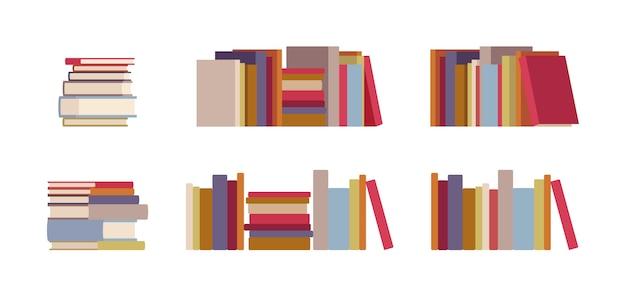 Conjunto de pilhas de livro