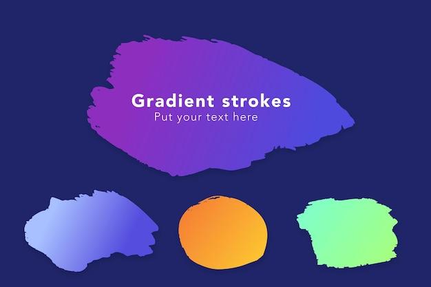 Conjunto de pincéis de gradiente