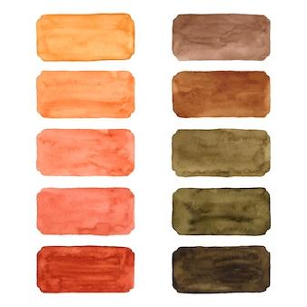 Conjunto de pinceladas de aquarela