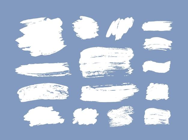 Conjunto de pinceladas de elementos de design de grunge tinta dourada pincéis de tinta linhas sujo sujo artístico