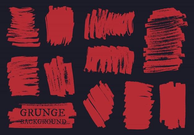 Conjunto de pinceladas de grunge