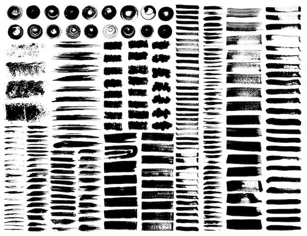 Conjunto de pinceladas
