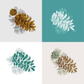 Conjunto de pinheiros