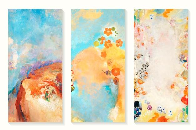 Conjunto de pinturas a óleo