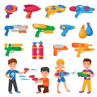 Conjunto de pistolas de água