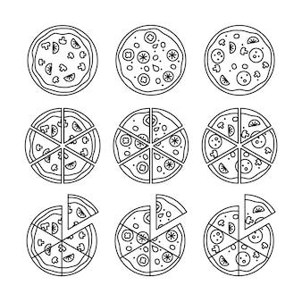 Conjunto de pizza de linha