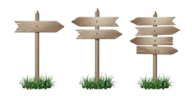 Conjunto de placa de madeira