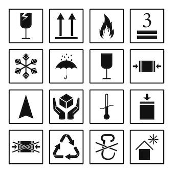 Conjunto de placas de embalagem pretas com moldura inclusive frágil, para proteger do sol, umidade e outras placas.