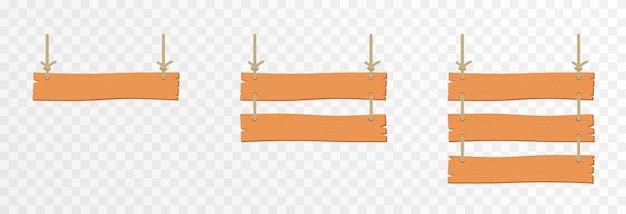 Conjunto de placas de ponteiras de madeira de desenho animado placa de madeira suspensa placas de ponteiras de madeira