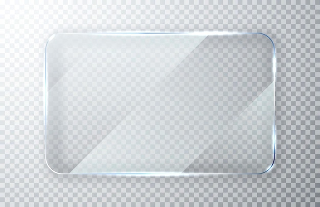 Conjunto de placas de vidro. banners de vidro janela transparente de vidro plano.