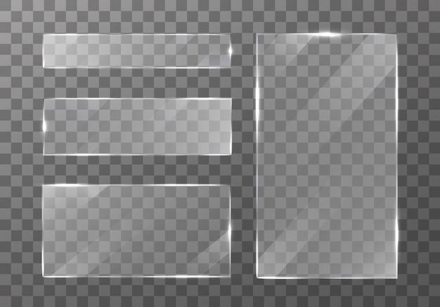 Conjunto de placas de vidro plano.