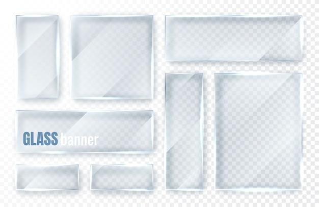 Conjunto de placas de vidro.