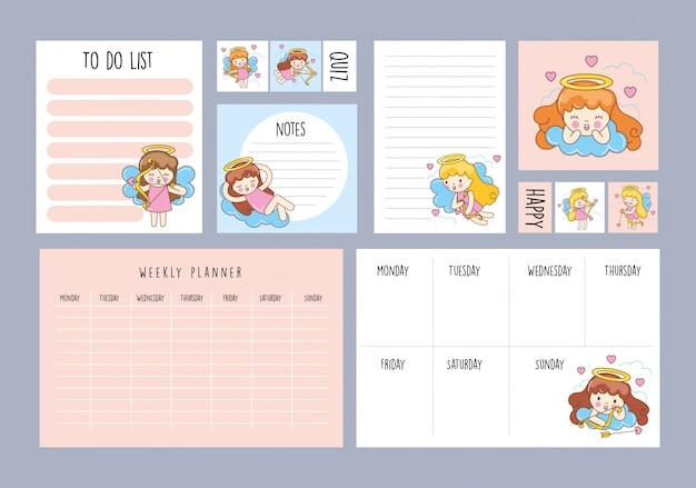 Conjunto de planejador semanal