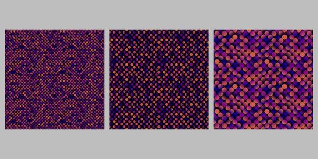 Conjunto de plano de fundo padrão gradiente ponto