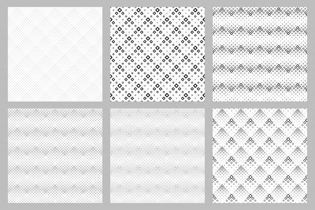 Conjunto de plano de fundo padrão quadrado geométrico sem emenda