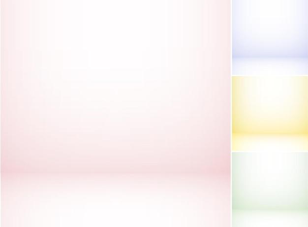 Conjunto de planos de fundo coloridos de estúdio, cenários retrô